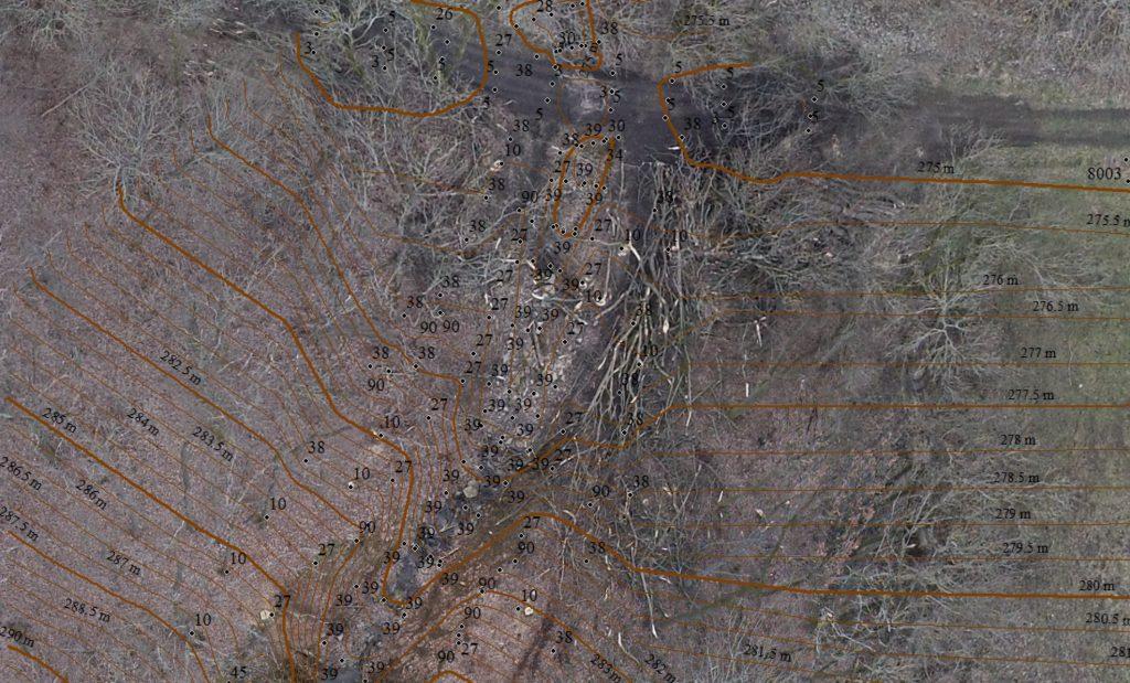 Luftbild mit eingearbeiteten 3D Daten