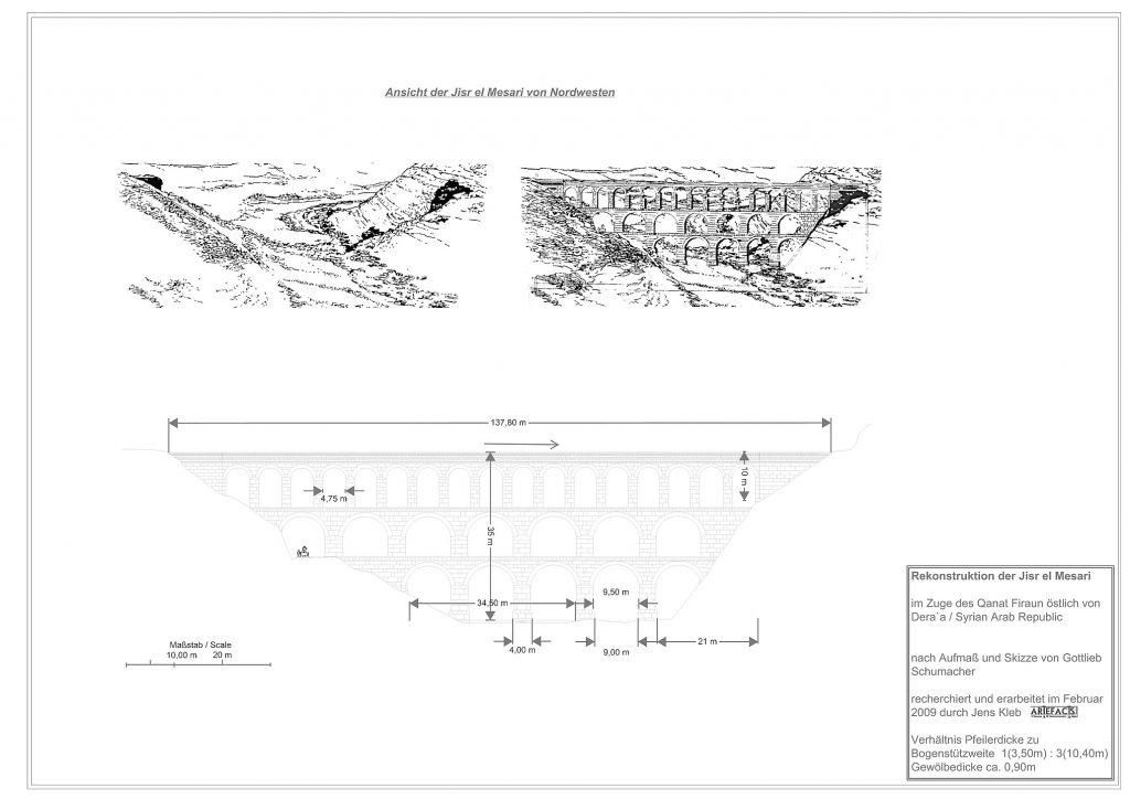 Rekonstruktion der Wadi ez Zedi Aquäduktbrücke