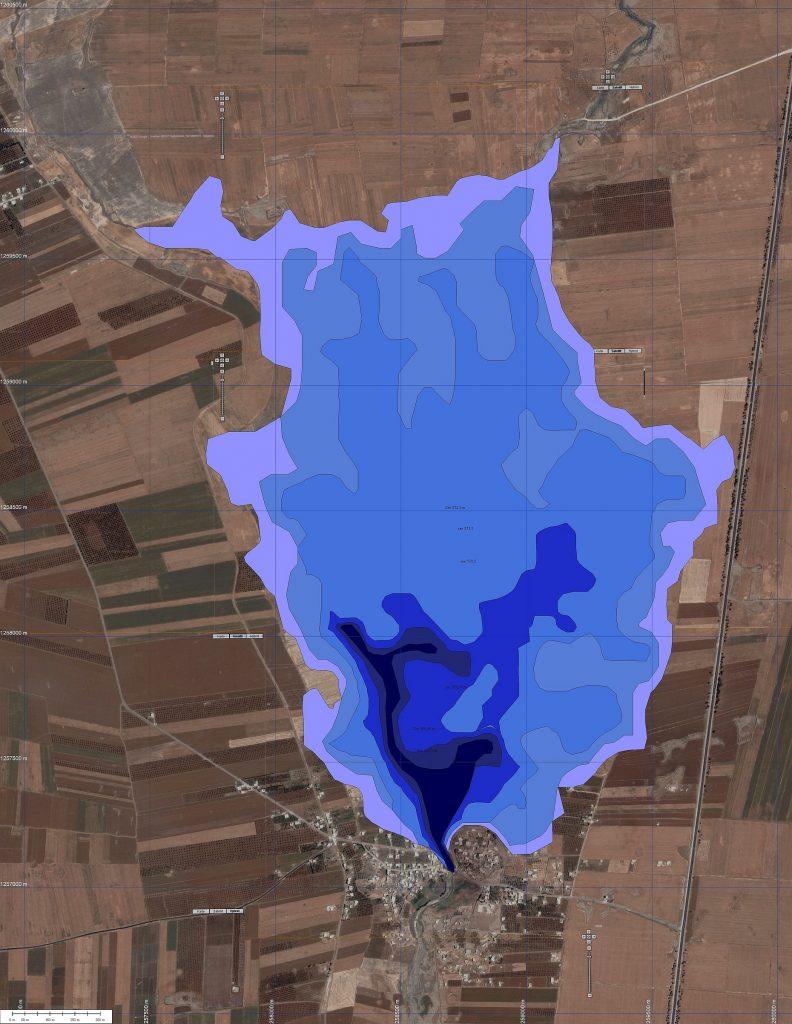 Staumengenberechnung eines römischen Staudamms